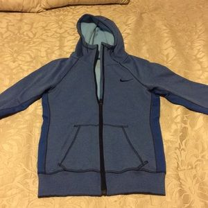 Nike Therm-Fit blue hoodie